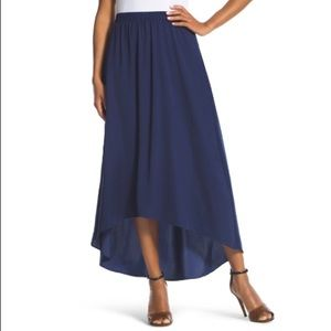 Chico's US Large Blue High Low Cassandra Skirt